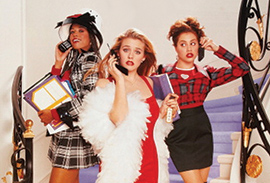 Californians Dionne, Cherilyn and foreign student Tai (L-R), from Clueless (Paramount 1995)