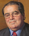 Justice Antonin Scalia official painting by Nelson Shanks